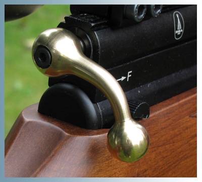 Brass Bolt Handle fitted to Scorpion